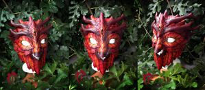 Greenman leather Mask by Feral-Workshop