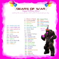 GEARS OF WAR birthday edition by Theyllnevergetme