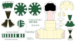 BLEACH Papercraft - Urahara Kisuke by Larry-San