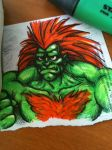 Speed Blanka by Kennedycomics