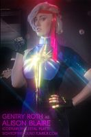 Alison 'Dazzler' Blaire Cosplay for Music Video by greasypigstudios