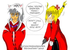 PRIZE: InuYasha and Edward Elric by InuYashaReader