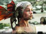 Mother Of Dragons Khaleesi - Game of Thrones by xLaSlayer