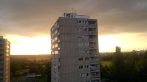sunset flat view by LETSOC