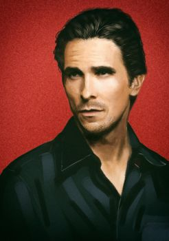 Christian Bale painting by ArchangelX2