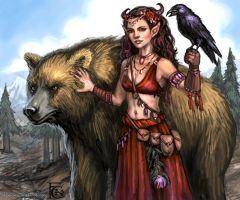 Beastmaster for Talisman by feliciacano