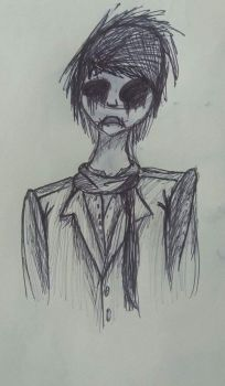 Creepypasta pen drawing by Neonwolf-of-the-sky