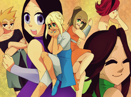Group pic: magical girl school by Punkichi