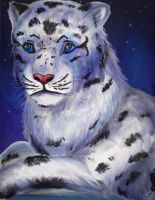 Snow Leopard Nights by Swooping-Puma
