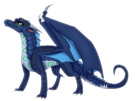 Blue Crescent Fullbody Prize by Haasiophis-Sahel