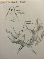 CAPON Inktober day 1: Ghost by Dragon-Wolf-Lover