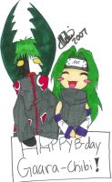 happy b-day Gaara-chibi -color by Zetsu-Chibi