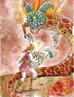 COMMISSION-- Link v Volvagia by cap-o-rushes