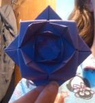 Purple origami rose by CrabbyThe2nd