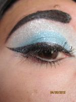 baby blue makeup by InkIsMyPassion