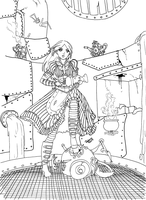 Hatter's Domain - lines by happybutterfly