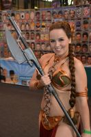 Slave Leia at Birmingham Comic-Con 2014 (3) by masimage