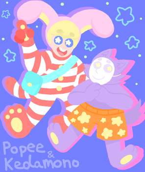 Popee and Kedamono by MythicalMagical