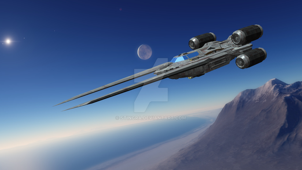 UT-60D U-wing starfighter/support craft by Stingra