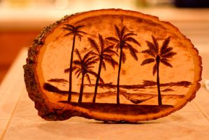 Relaxing on the beach -- Wood burning by brandojones