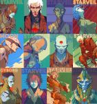 StarVeil character collection No.1 by DavidRapozaArt