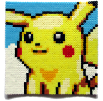Pikachu Perler Portrait by Aenea-Jones