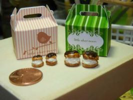 Miniature Pastry Boxes by nyann