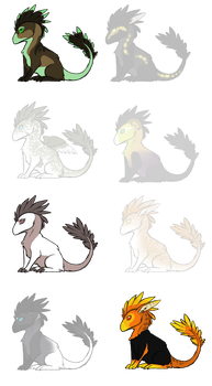 Feathered dragon adoptables CLOSED by White-Sight
