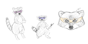 teenage mutant ninja raccoons by Alisha-town