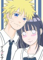 Naruhina in uniform by charu-san