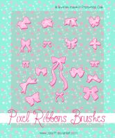 Pixel Ribbons Brushes. by Coby17