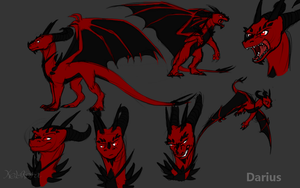 Darius Reference sheet by Kelskora