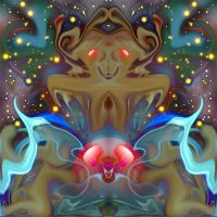 it rides a cosmic wave by strange-art-gallery