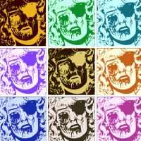 Zombie Romance Comic Pop Art 9 Panel by DevintheCool