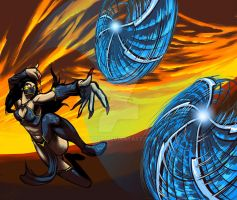 Kitana wielder of flying guillotines by ryuzo