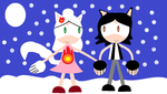 Sonic style Daniel and Misato by Dannystar64