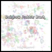 :Rainbow Scatter Brush: by 0-KingdomHearts-0