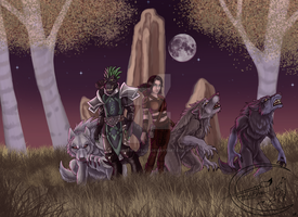 Commission: As the wolfclan we stick togehter by EmberWolfsArt