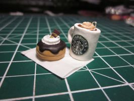 Starbucks? and A Fancy Doughnut by xAurelia