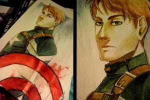 Captain America - Watercolor by Archetype-Raven