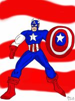 Captain America by CHCHcartoons