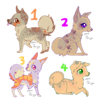 [OPEN] Canine Adopts 2 - OFA [2/4 available] by iceflakesadopts