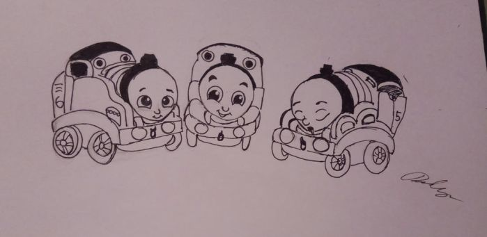 Baby Thomas, Percy, and James  by CartoonLover20