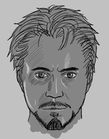 Tony Stark (Sketch) by TolkienOP
