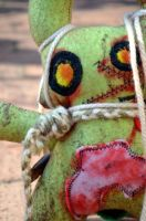 ZomBunneh the Zombie Plush Close Up by livetoletlive
