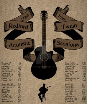 Redford Twain Band Poster by aemdesigner