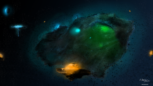 Asteroid mine by PITCHEDsenses