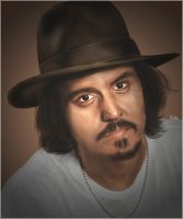 johnny depp drawing by Tolio-Design