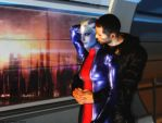 Mass effect wallpaper 16 - Shepard and Liara by ethaclane