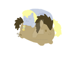 Pudgy Ponies - Derpy and Dr.Whooves - 2 by InvaderBlitzwing